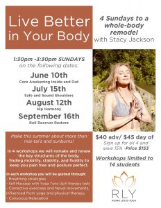 Live Better in Your Body Summer Series